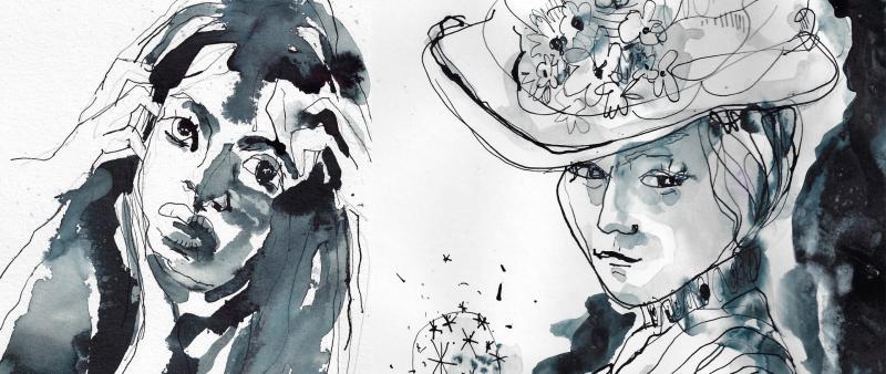 Aufbaukurs: Portraits in Tusche