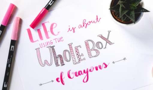 Lettering – herbstliche Buchstaben schön zeichnen