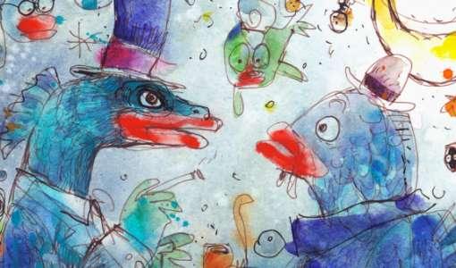 Tiere mit Humor und Charakter Zeichen