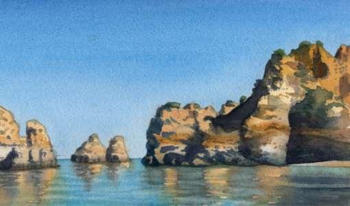 Stein, Strand & Steilküste – Aquarell Basics