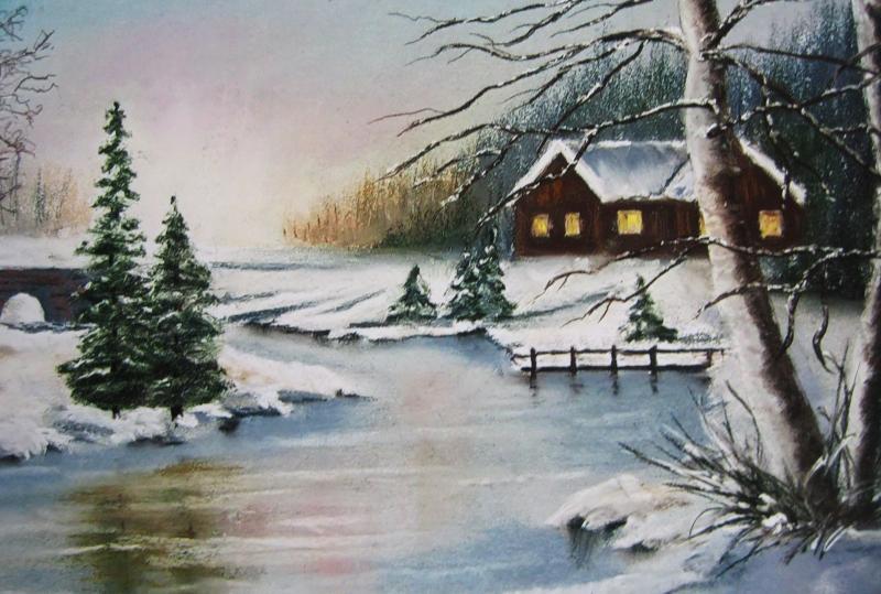 Weihnachtsbild -auch als Weihnachtskarte geeignet